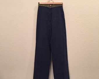 1970's Vintage High Waisted Wide Legged Jeans