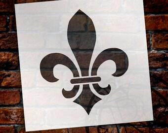 Versailles Fleur De Lis Art Stencil - SELECT SIZE - STCL923 - by StudioR12
