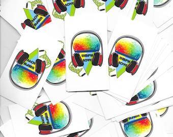 Umphreys headphones & snowcones sticker packs ***FREE SHIPPING***
