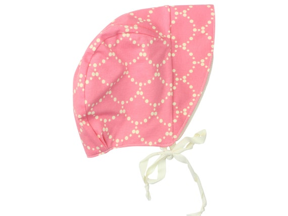 Baby Sun Bonnet Toddler Sun Bonnet Pink And Cream Rose Ripple Sun Bonnet Modern Baby Bonnet