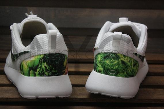 4489093e707 The Hulk Nike Roshe Run Triple White Custom Men   by NYCustoms 30 ...
