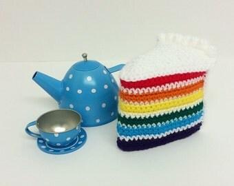 Play Food Crochet Rainbow Cake, Gift, Amigurumi