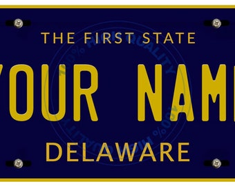 Personalized Custom Delaware Car Vehicle License Plate Auto Tag