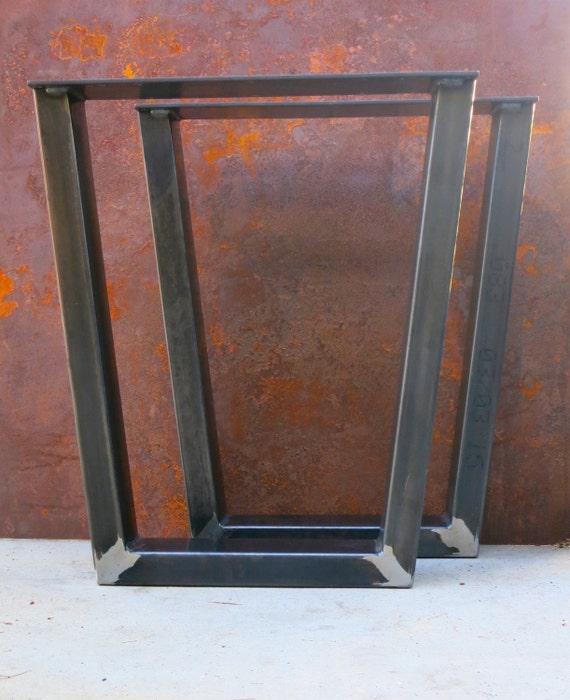 Industrial Taper Shaped Metal Table legs 4x2