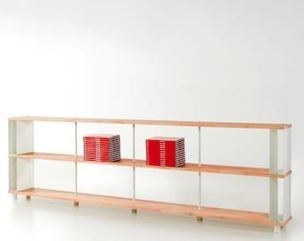 Modular Bookcase SKAFFA WOOD Solid Wood Bücherregal Massiv Holz étagère H.90