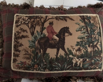 Decorative Pillow with Horseman insert/Birthday/Anniversary/Gift/Home Decor/Throw Pillow