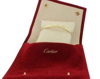 Vintage Cartier Aldo Cipullo Yellow Gold Love Screw Bangle Bracelet Size 17