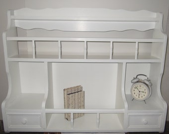Wall shelf, wall Board with Gallery and drawers