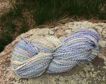 Bulky Handspun Yarn - Frosty Blue / SALE 50% OFF