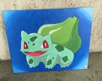 Pokemon Bulbsaur Acrylic Painting