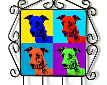 Azawakh- clothes hanger with an image of a dog. Collection. Andy Warhol Style