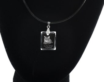 Kurilian Bobtail , Cat Crystal Necklace, Pendant, High Quality, Exceptional Gift, Collection!