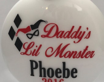 Daddy's Lil Monster Personalized Ornament