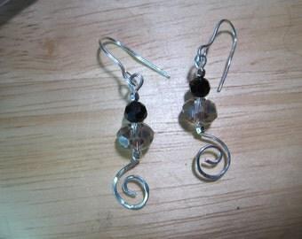 Spiral Crystal Earrings