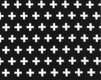 Robert Kaufman by Ann Kelle Remix Crosses Black Monochrome (Half metre)