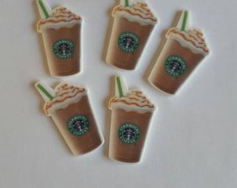5-piece Starbuck's Flatback Resins