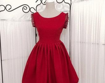 1950s prom dress,50s bridesmaid dress, party dress, pinup tea party dress, graduation