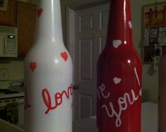 I Love You decorative bottle