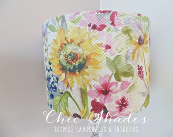 Country Sunflower Fabric Lampshade