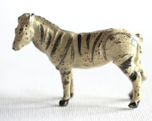 Vintage Hollow Cast Lead Zebra, Vintage Zoo Animal, Lead Toy, Vintage Toy, For Altered Art, Assemblage Art, Collectible Lead Toy