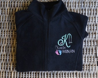 Fleece Jacket, Full Zip, Embroidery on front & across the back, Monogram yours today!, 2 Day Priority Mail!!