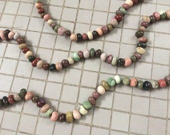 Full Strand Natural Imperial Jasper Nugget Beads