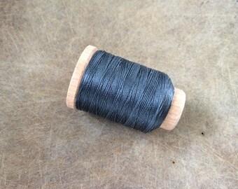 Vintage Holland/Utica Silk Thread Spool, Dark Slate Blue, Size F, 140 Yards