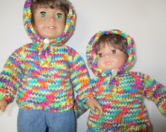 rainbow hooded sweater