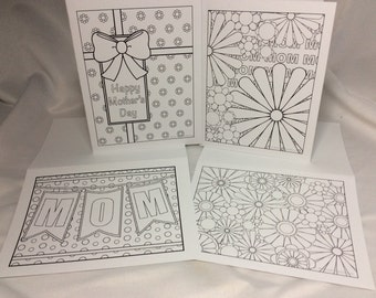 Color your Own Greeting Cards (Mothers Day)
