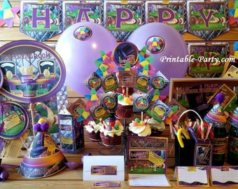 Willy Wonka Charlie Chocolate Factory Theme Printable Party Supplies