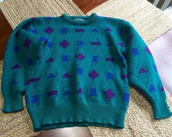 Vintage 1980s Pendleton 100% Virgin Wool Sweater Womens Medium