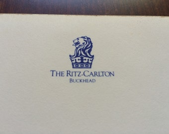 Vintage The Ritz-Carlton Buckhead Atlanta Hotel 1980s Leather Stationary Notebook Notepad Hotel Guest Souvenirs Collectibles Ritz Carlton