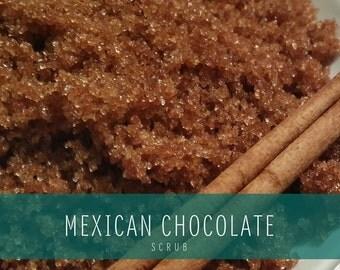 Mexican Chocolate Organic Sugar Scrub, Mexican Chocolate Body Polish, Organic sugar scrub