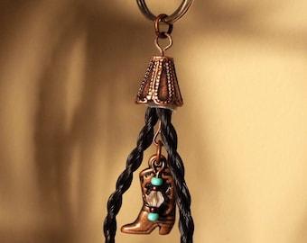 """Horse Hair Keychain - """"Dawn"""" Design"""