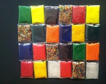 24 Bags Magic Grow In Water 3D (3-4grams/Bag, 5000++pcs) Crystal Soil Jelly Bead For Gardening And Water Toy Refill