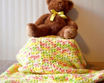 Soft and cuddly crochet baby blanket