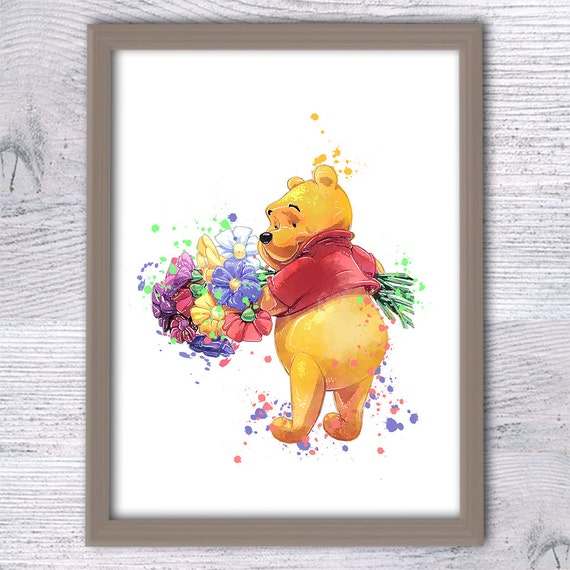 Winnie The Pooh Nursery Pooh Prints Baby Shower Gift Pooh