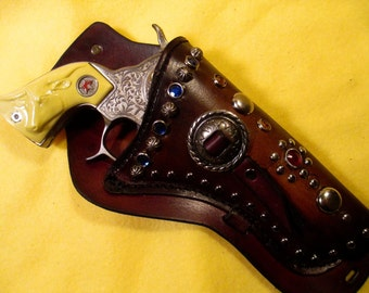 1950's  Vintage Western Cap Gun with a matching custom Holster.
