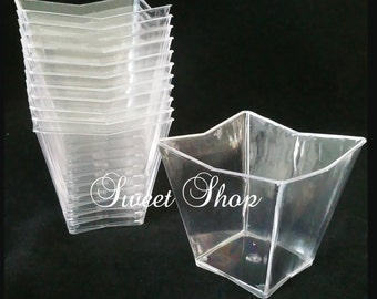 Trapezoid Dessert Cups (12 Pack)