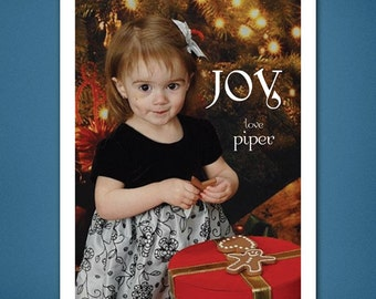 DIGITAL Christmas Card • Joy Christmas Card • Christmas Card • Christmas • Holiday Cards • 4x6 • Photograph Christmas Card • Photograph Card
