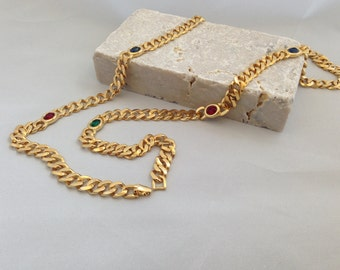 """35"""" Vintage Costume Necklace Circa Late 80's Early 90's."""