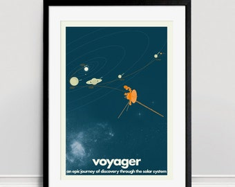 Voyager Space Probes A3 Giclee Print