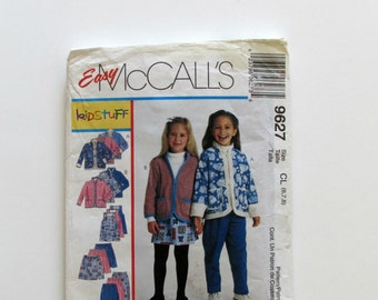 McCall's Girl's Top Jumper Pants and Skirt No 9627 - Uncut