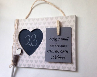 Engagement party gift- Wedding countdown