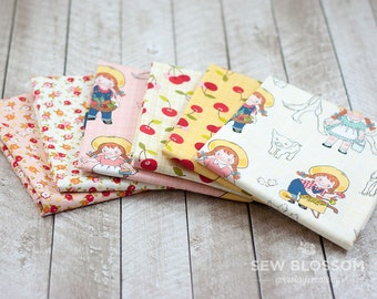 FARM GIRL Fabric BUNDLE - Farmer Girl, Cherries and Floral Fabrics - Riley Blake Designs