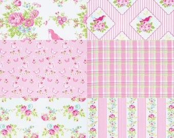 Tany Whelan Zoey's Garden Pink Fat Quarter Bundle