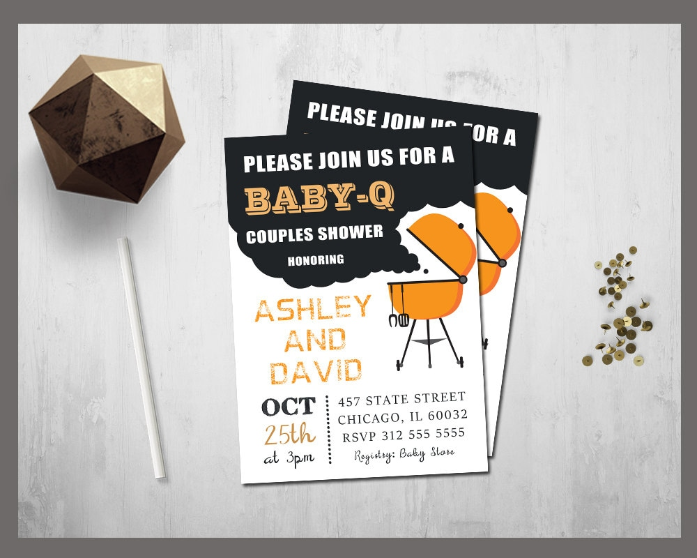 bbq baby shower invitation baby q baby shower invite by tdadesign