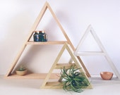Painted Wood Geometric Shelving, Wood Shelves, Modern Shelving, Minimal Design Shelves, Geometric Shelf