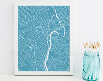Passaic Map Passaic Art Passaic Map Art Passaic Print Passaic Printable Passaic City Art Passaic City Map New Jersey Art