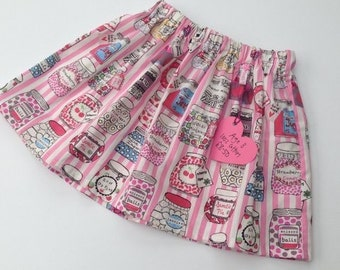 Sweet shop pink girls skirt Age 3
